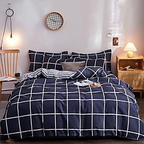 cheap Bedding Sets-Classic bedding set 4 size geometric printing summer bed linen 4pcs/set duvet cover set Pastoral bed sheet AB side duvet cove