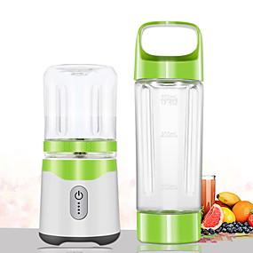 billige Husholdningsapparater-den nye seks-blads juicepressen, multifunksjons oppladbar juicepresse, bærbar juicepresse, mini mattilskuddskopp 500 ml + 300 ml kopp