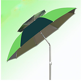 cheap Garden Tools-2m Universal Double Aluminum Pole Fishing Umbrella Set Sun Umbrella Umbrella With Ground Plug Windproof