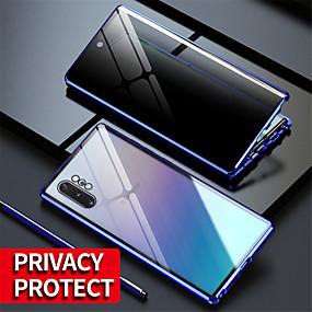 billiga Telefoner och tillbehör-magnetiskt härdat glas integritet metall fodral coque 360 magnet lock för samsung galaxy s20ultra / s20 plus / s20 / a70 / a50 / a50s / a30s / note 8 / note 9 / note10 note 10plus / s10 / s9 / s8plus