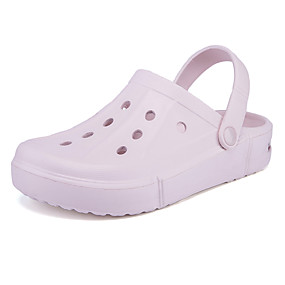 cheap Women's Clogs & Mules-Women's Clogs & Mules 2020 Spring &  Fall / Spring Flat Heel Round Toe Casual Daily Solid Colored EVA(ethylene-vinyl acetate copolymer) Walking Shoes Purple / Fuchsia / Pink