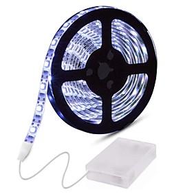povoljno Svjetlosne trake i žice-0.5m Savitljive LED trake 30 LED diode 2835 SMD 8mm 1pc Toplo bijelo Bijela Crveno Ukrasno Tiktok LED svjetla Baterije su pogonjene