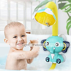 cheap Bathroom Gadgets-Bath Toys Baby Water Game Elephant Model Faucet Shower Electric Water Spray Toy For Kids Swimming Bathroom Baby Toys