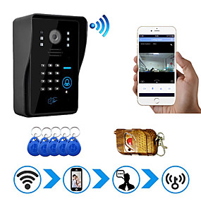 cheap Video Door Phone Systems-WIFI Network Wireless Video Door Bell 1080P IP Camera Support Android and IOS System with Password and RFID function WF1002
