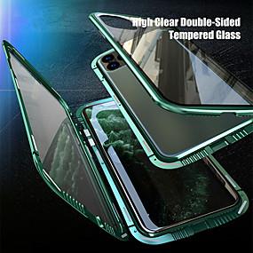 billige Telefoner og tilbehør-anti-peep magnetisk deksel til iphone se2020 / 11 / x / xs / xs max / xr anti-peeping veske beskyttelsesveske personvern dobbeltsidig glass 360 beskyttelsesveske til iphone 11pro / 11promax / 8plus