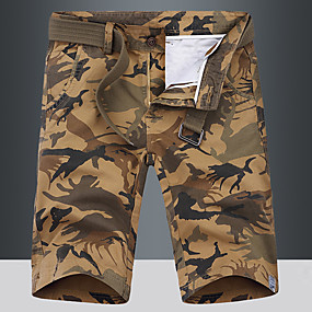 """cheap Camping, Hiking & Backpacking-Men's Hiking Shorts Hiking Cargo Shorts Military Camo Summer Outdoor 10"""" Standard Fit Ripstop Multi-Pockets Quick Dry Front Zipper Cotton Knee Length Shorts Bottoms Dark Grey Army Green Blue Khaki"""