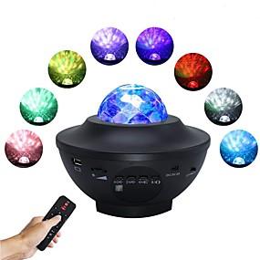 billige Projektorlys-1 sett 6 w Bluetooth-høyttaler fjernkontroll / rc kreativ ledet scenelys / musikkstjerneprojektor / nattlys / spotlys smarte lys rgbwhite 5 v kommersiell scene hjem / kontor