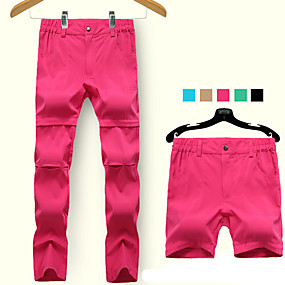 cheap Camping, Hiking & Backpacking-Women's Hiking Pants Trousers Convertible Pants / Zip Off Pants Summer Outdoor Quick Dry Breathable Stretchy Sweat wicking Spandex Bottoms Fuchsia Black Blue Khaki Green Camping / Hiking Fishing