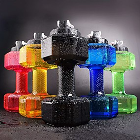 cheap Drinkware-Dumbbell cup Sport Bottle PP Portable Sport Drinkware 2L with lid