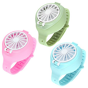 cheap Household Appliances-USB Rechargeable Fan With Comfortable Wrist Strap Portable Mini Fan Watch-Shaped Fan Control For Indoors Or Outdoors Traveling