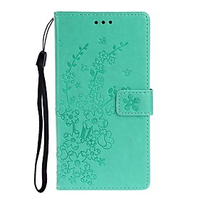 cheap Samsung Case-Case For Samsung Galaxy A51/Galaxy A71/S20 Plus Wallet / Card Holder / with Stand Full Body Cases Solid Colored / Flower PU Leather For Galaxy S20 Ultra/A20E/A01/A11/A21/A41/A10S/A20S/A30S/A50