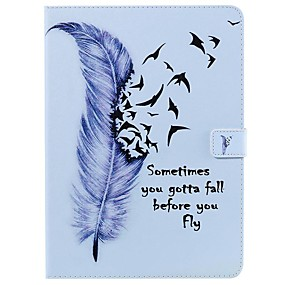 cheap iPad case-Case For Apple iPad New Air 10.5 / iPad Mini 3/2/1/4/5 Wallet / Card Holder / with Stand Full Body Cases Feathers PU Leather For iPad 10.2 2019/Pro 11 2020/Pro 9.7/2017/2018/iPad 2/3/4