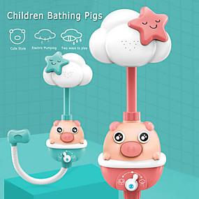 cheap Bathroom Gadgets-Children Bathing Pig Electric Shower Play Water Baby Bathroom Bath Automatic Equipment Kids Shower Bath Toys Shower Head Faucet