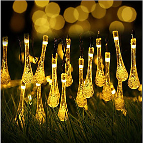 cheap Light Strips & Strings-20 0LEDs Outdoor Waterproof Solar String Light Fairy Lights Decoration for Christmas Garden Party Lighting