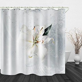 cheap Shower Curtains-Beautiful Water Splash Digital Print Waterproof Fabric Shower Curtain for Bathroom Home Decor Covered Bathtub Curtains Liner Includes with Hooks