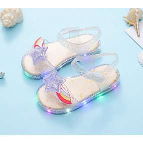 preiswerte Schuhe und Taschen-Mädchen Komfort / Gelee / Leuchtende LED-Schuhe PVC Sandalen Kleinkind (9m-4ys) Rot / Silber Sommer