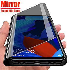 cheap Samsung Case-Mirror View Smart Flip Case For Samsung Galaxy A51 A71 A91 A81 A41 A31 A21 A11 A01 A70e A20e A10e Note 10 Lite A90 5G A80 A70 A60 A50 A40 A30 A20 A10 A9 A7 2018 A6 A8 Plus 2018 Protection Cover