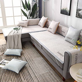 cheap Slipcovers-Sofa Cover Contemporary Embroidery Ice Silk Slipcovers