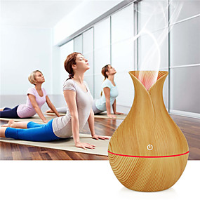 cheap Household Appliances-USB Wood Grain Essential Oil Diffuser Ultrasonic Air Humidifier Household Aroma Diffuser Aromatherapy Mist Maker with Light