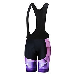 cheap Cycling & Motorcycling-Miloto Women's Cycling Bib Shorts Bike Shorts Bottoms UV Resistant Quick Dry Sports White / Black Mountain Bike MTB Road Bike Cycling Clothing Apparel Race Fit Bike Wear / Stretchy