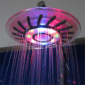 cheap Shower Heads-LED Shower Head Color Changing 2 Water Mode 7 Color Glow Light Automatically Changing Handheld Showerhead
