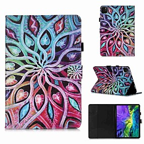cheap iPad case-Case For Apple iPad Pro 11''(2020) / iPad 2019 10.2 / Ipad air3 10.5' 2019 Wallet / Card Holder / with Stand Full Body Cases Spread Flower PU Leather / TPU for iPad Air / iPad 4/3/2 / iPad (2018)