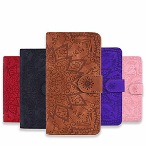 cheap Samsung Case-Case For Samsung Galaxy A11 A21 A31 A41 Wallet Card Holder with Stand Full Body Cases Flower PU Leather PU Leather for Galaxy A70 A50 A50S A30S A30 A20 A20E M10 M11 M31 Note10 Plus Note10