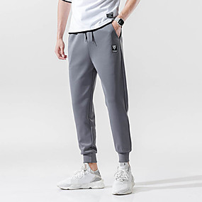 cheap Yoga & Fitness-Men's Joggers Track Pants Sports & Outdoor Athleisure Wear Bottoms Drawstring Pocket Elastane Winter Fitness Running Jogging Training Quick Dry Breathable Soft Sport Black Gray / Stretchy