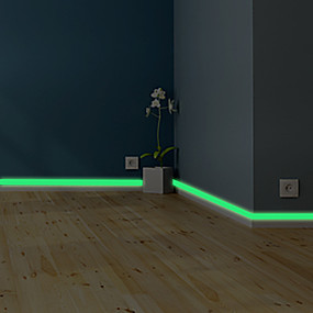 cheap Bathroom Gadgets-5m Luminous Band Baseboard Wall Sticker Living Room Bedroom Eco-friendly Home Decoration Decal Glow In The Dark Diy Strip Stickers