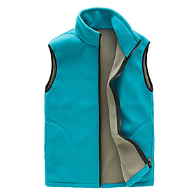 cheap Camping, Hiking & Backpacking-Women's Hiking Fleece Jacket Fishing Vest Work Vest Outdoor Casual Lightweight with Multi Pockets Fall Winter Spring Travel Cargo Safari Photo Wear Resistance Breathable Waistcoat Jacket Coat Top