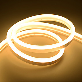 cheap Neon LED Lights-5m Neon Strip Lights 360 LEDs 2835 SMD 6mm 1pc Warm White White Red Thanksgiving Day Christmas Waterproof Cuttable Decorative 12 V