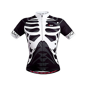 cheap Cycling & Motorcycling-21Grams Men's Short Sleeve Cycling Jersey Summer Polyester Yellow Blue Orange Skeleton Bike Jersey Top Mountain Bike MTB Road Bike Cycling Quick Dry Breathable Back Pocket Sports Clothing Apparel
