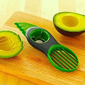 cheap novelty kitchen tools-Magic Kitchen 3 in 1 Fruit Vegetable Tools Avocado Slicer Pitter Splitter Slices Kitchen Accessories Cooking Tool