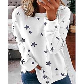 cheap Athleisure Wear-Women's Pullover Sweatshirt Geometric Number Daily Sports Basic Hoodies Sweatshirts  White Red Khaki