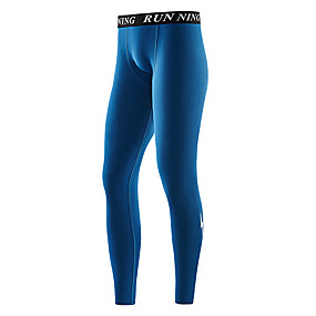 cheap Running & Jogging-Men's Running Tights Leggings Compression Pants Athletic 2pcs Leggings Bottoms Winter Fitness Gym Workout Running Jogging Training Butt Lift Quick Dry Breathable Sport Black Purple Grey Ink Blue Dark
