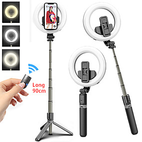 billige Mobilkamera vedlegg-Selfiestang Bluetooth Uttrekkbar Maks lengde 92 cm Til Android / Universell / iOS Android / iOS Other