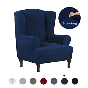 cheap Slipcovers-Stretch Wing Chair Slipcover Wingback Armchair Chair Slipcovers Sofa Covers 1-Piece Spandex Fabric Wing Back Wingback Armchair Chair Slipcovers Furniture Protector,Solid Color Wing Chair Cover