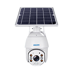 cheap Outdoor IP Network Cameras-ESCAM QF280 1080P Cloud Storage PT WIFI Battery PIR Alarm IP Camera With Solar Panel Full Color Night Vision Two Way Audio IP66 Without Battery