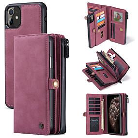 billige Telefoner og tilbehør-caseme ny multifunksjonell luksusveske i magnetisk flipveske for iphone 11/11 pro / 11 pro max med lommebok kortsporstand 2-i-1 avtakbart lommebokdeksel