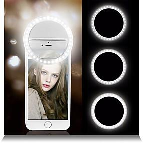 billige Dekorasjonslys-4stk 2stk 1stk 40 ledet selfie ring lys bærbar flash universell telefon tilleggsbelysning selfie forbedrer fyllingslys for iphone