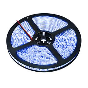 hesapli LED Şerit Işıklar-5m Esnek LED Şerit Işıklar 300 LED'ler 5050 SMD 1pc Sıcak Beyaz Beyaz Su Geçirmez Tiktok LED Şerit Işıklar 12 V / IP65