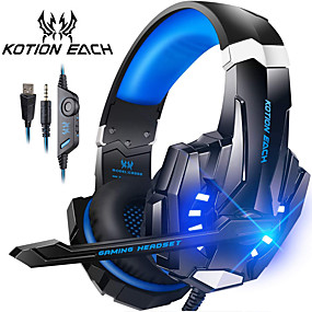 cheap Computer & Office-G9000 Gaming Headsets KOTION EACH Headset Over-ear Wired Game Earphones Gaming Headphones Deep Bass Stereo Casque with Microphone Mic for PS4 new XBox PC Computer Laptop Gamer