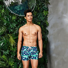 cheap Surfing, Swimming & Diving-SEOBEAN® Men's Swim Shorts Swim Trunks Bottoms Quick Dry Stretchy Swimming Surfing Water Sports Summer
