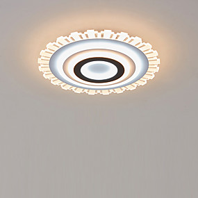 cheap Dimmable Ceiling Lights-LED Acrylic Ceiling Light 50 cm Round Dimmable Flush Mount Lights  Bedroom Kids Room Home Office Modern 110-120V / 220-240V