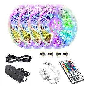 billige LED-Smart-lys-kwb Bluetooth led strimmellys 5050 20m (4 x 5m) 600 lysdioder smart-phone kontrolleret rgb til hjemmet& amp