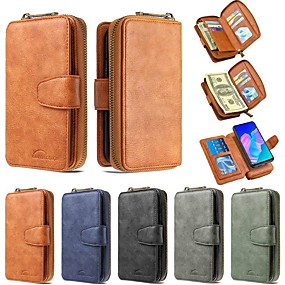 cheap Samsung Case-Case For Samsung Galaxy A50/Galaxy A70E / Galaxy Note 10 Plus Wallet / Card Holder / with Stand Full Body Cases Solid Colored PU Leather For Galaxy A01/A21/A41/A51/A71/A81/A91/A10S/A20S/A30S/A50S