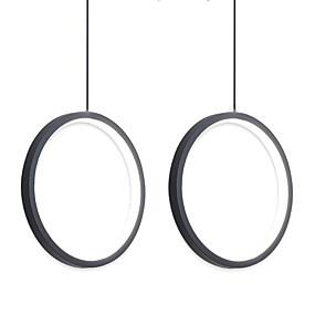 cheap Pendant Lights-2pcs/lot Dia40 cm LED20W Mini Pendant Light Aluminum Circle / Mini Painted Finishes Black White Frame for Living Bed Dinning Room Modern 110-120V / 220-240V
