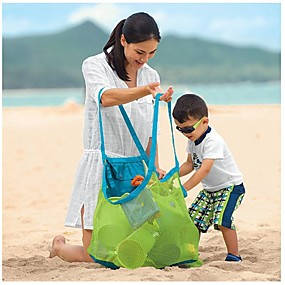 cheap Bathroom Gadgets-Beach Bag Mesh Stay Away From Sand Durable Indoor Outdoor Portable Hand Swimming Sport Toys Storage For Children Kids
