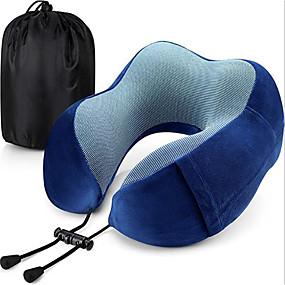 halpa Mukavuussetti matkalle-matkatyyny muistivaahto kaulatyynyn päätuki pehmeä tyyny nukkumiseen lepäävä lentokone matkustaa mukavasti ja kevyt parannettu tuki