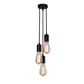 cheap Pendant Lights-3-Light 12 cm Cluster Design Pendant Light Metal Electroplated Vintage / Nordic Style 110-120V / 220-240V